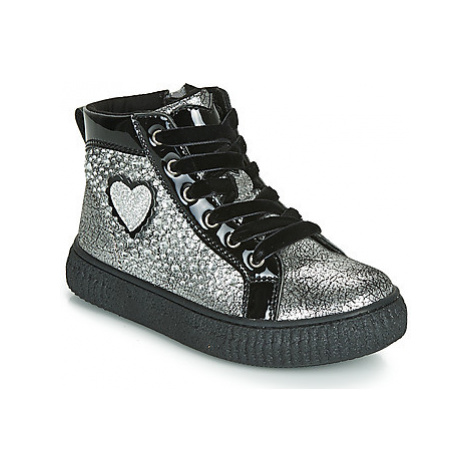 Primigi ALPHA girls's Children's Shoes (High-top Trainers) in Silver
