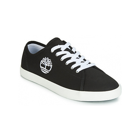 Timberland NEWPORT BAY CANVAS OX girls's Children's Shoes (Trainers) in Black