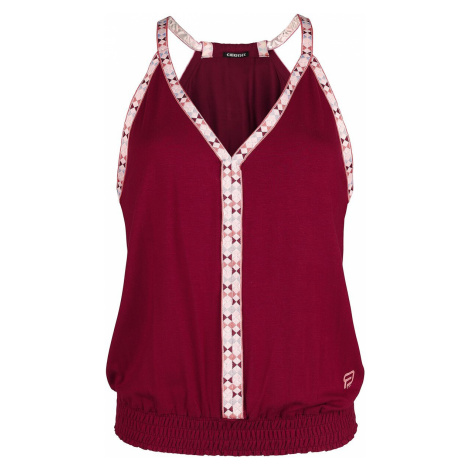 RED by EMP RED X CHIEMSEE - rotes Top mit bunten Kanten Top red