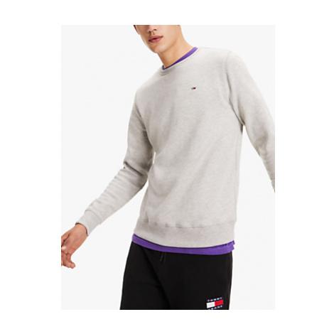 Tommy Jeans Original Flag Logo Sweatshirt, Light Grey Heather Tommy Hilfiger