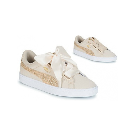 Puma BASKET HEART CANVAS W'S women's Shoes (Trainers) in Beige