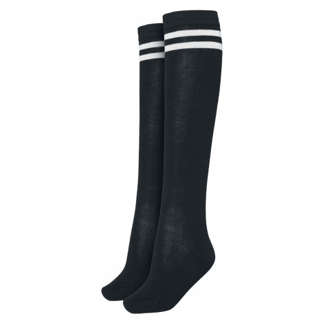 Urban Classics - Ladies College Socks - Socks - black-white