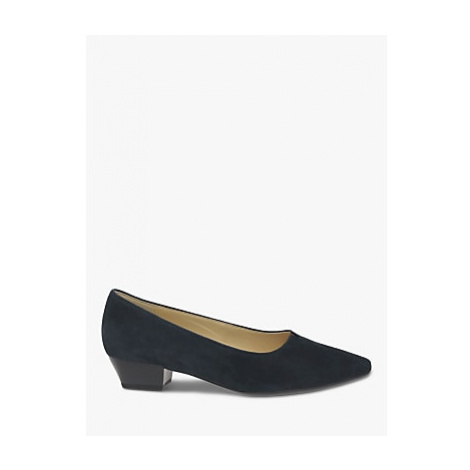 Gabor Acton Point Toe Low Heeled Court Shoes, Blue
