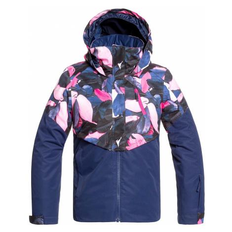 jacket Roxy Frozen Flow - BTE5/Medieval Blue Plumes - girl´s