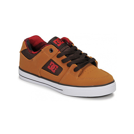 DC Shoes PURE SE girls's Children's Skate Shoes in Brown