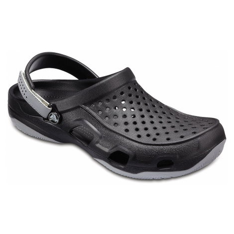 shoes Crocs Swiftwater Deck Clog - Black/Light Gray