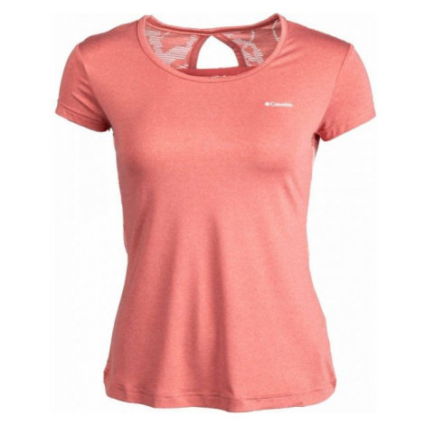 Columbia PEAK TO POINT NOVELTY SS SHIRT pink - Women's sports T-shirt