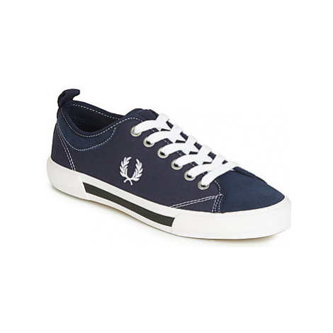 Fred Perry HORTON CANVAS SUEDE men's Shoes (Trainers) in Blue