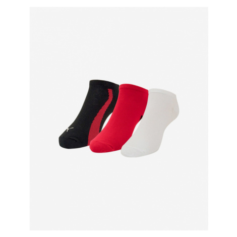 Puma Set of 3 pairs of socks Red White Colorful